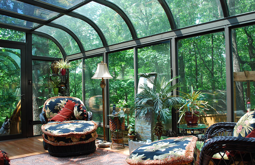 Exceptional Stunning Curved Sunrooms Are A Wonderful Option For Any Home Expansion.  This Sunroom Is The Solarium That Made Four Seasons Sunrooms Famous And  With Its ...